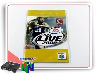 Manual Nba Live 2000 Original Nintendo 64 N64