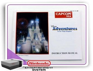 Manual Dysney Adventures Original Nintendinho Nes 8-bits