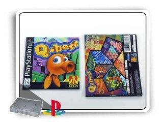 Manual E Encarte Q-bert Original Playstation 1 Ps1