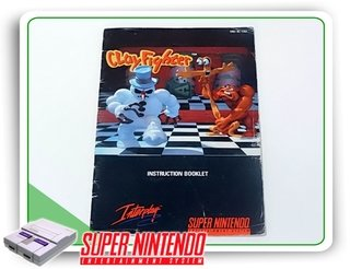 Manual Clayfighter Original Super Nintendo Snes
