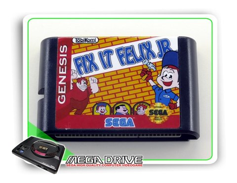 Fix It Felix Jr Sega Mega Drive / Genesis - Novo