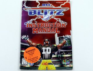 Manual Nfl Blitz Original Nintendo 64 N64