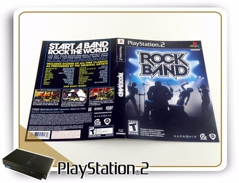 Encarte E Manual Rock Band Original Playstation 2 Ps2