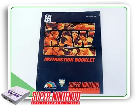 Manual Wwf Raw Original Snes Super Nintendo