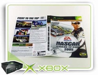 Encarte Nascar Chase For The Cup 2005 Xbox Clássico Original