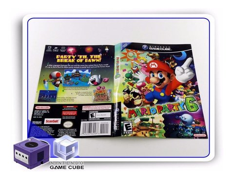 Encarte Mario Party 6 Original Gamecube