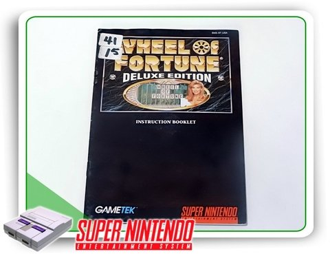 Manual Wheel Of Fortune Deluxe Original Super Nintendo Snes