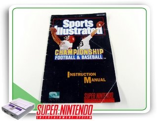 Manual Sports Illustrated Championship Original Snes