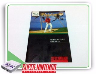 Manual True Golf Waialae Original Super Nintendo Snes