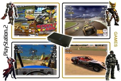 Sprint Cars Road To Knoxville Original Playstation 2 Ps2 - comprar online