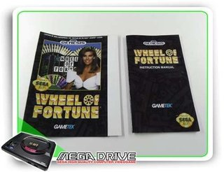 Encarte E Manual Wheel Of Fortune Original Sega Mega Drive