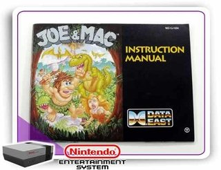 Manual Joe & Mac Original Nintendinho Nes 8-bits