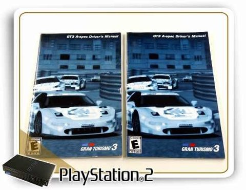 Manual Gran Turismo 3 A-spec Original Playstation 2 PS2 - comprar online