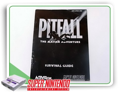 Manual Pitfall The Mayan Adventure Super Nintendo Original