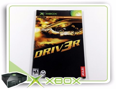 Manual Driver 3 Original Xbox Clássico