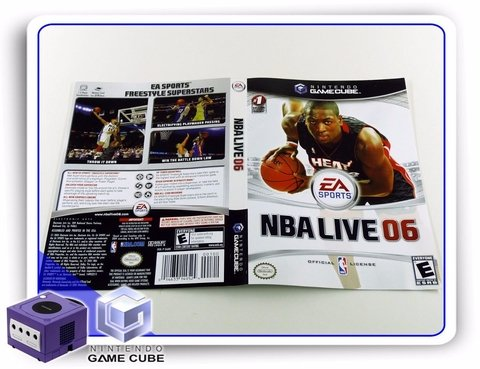 Encarte Nba Live 06 Original Gamecube