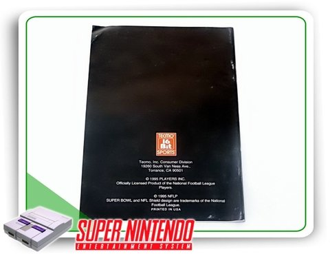 Manual Tecmo Super Bowl 3 Original Snes Super Nintendo - comprar online