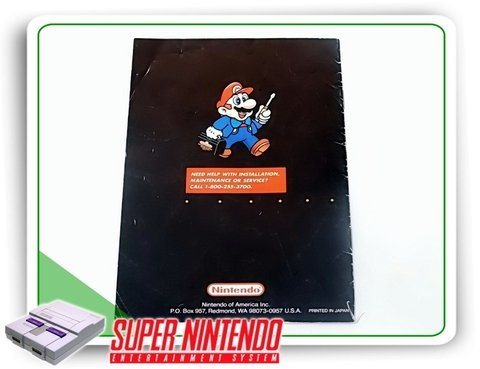Manual Mouse Snes Super Nintendo Original - comprar online