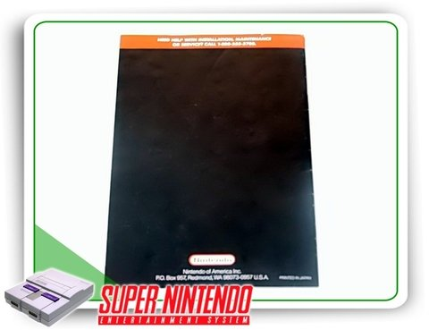 Manual Super Tennis Original Super Nintendo Snes - comprar online