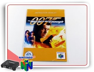 Manual 007 The World Is Not Enough N64 Original Nintendo 64