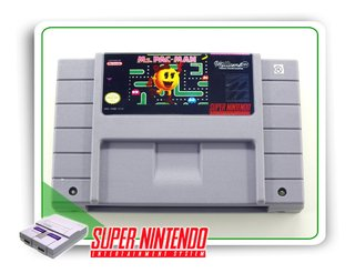 Ms Pac-man Original Super Nintendo Snes