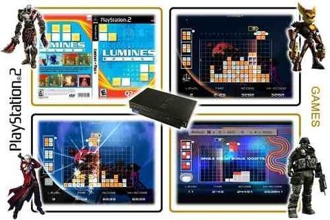 Puzzle Fusion Lumines Plus Original Playstation 2 PS2 - Radugui Store