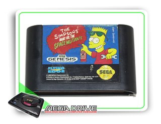 The Simpsons Bart Vs Space Mutants Original Sega Mega Drive