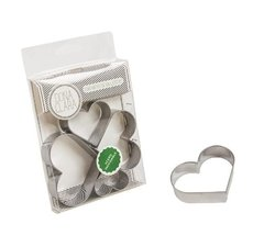 Set Cortantes Galletitas Coraz—n Corazones X4