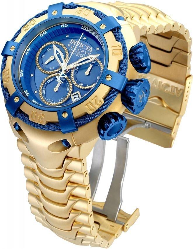 8682b254930 Relógio Invicta Thunderbolt Gold Azul