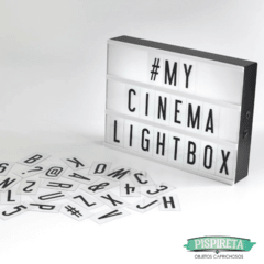 Lightbox, cartel luminoso, con letras, cartel