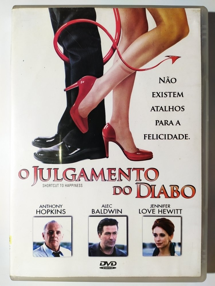 DVD O Julgamento Do Diabo Anthony Hopkins Alec Baldwin Original Shortcut To  Happiness Jennifer Love Hewitt