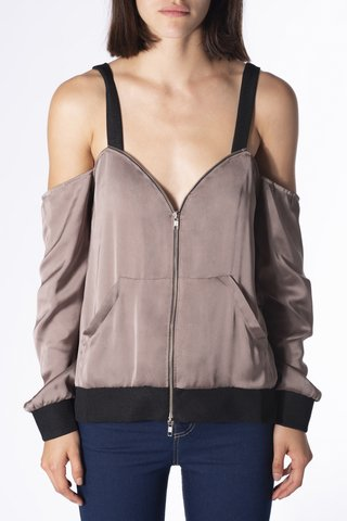 TOP BOMBER FAMA GRIS