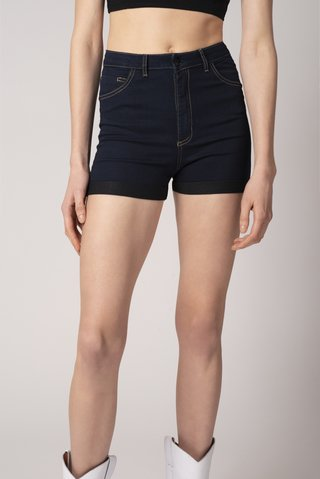 SHORT DARK RAVEN AZUL