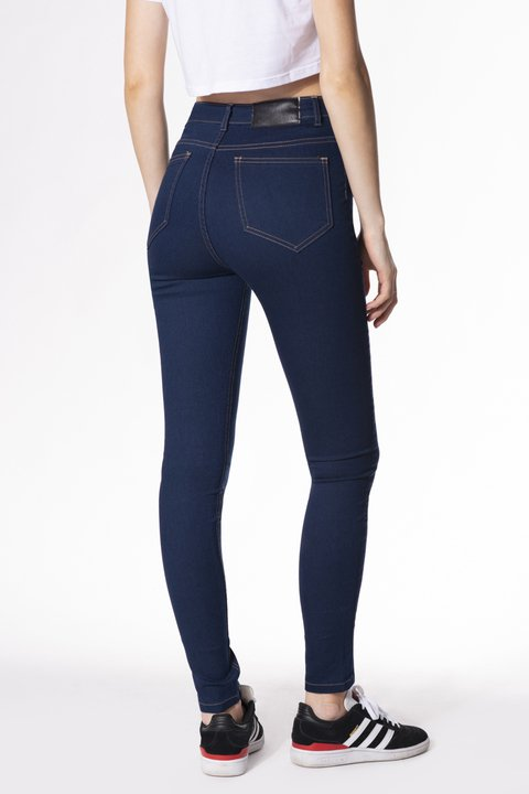 JEAN SUPER HIGH DARK RAVEN - comprar online