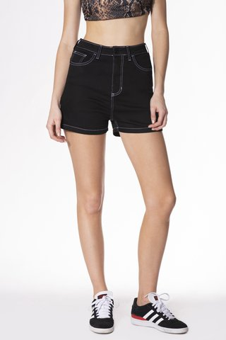 SHORT MOM BLACK SPIDER NEGRO - comprar online