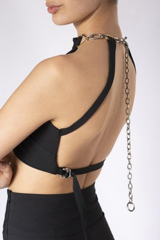 TOP HALTER DONATELLA NEGRO
