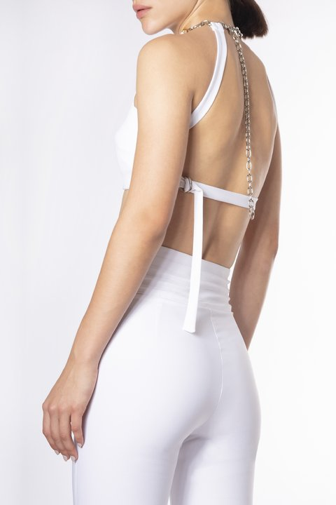 TOP HALTER DONATELLA BLANCO