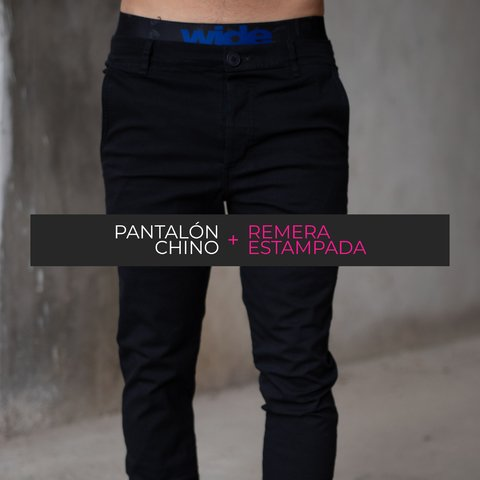PROMO Pant Chino + Remera Estampada