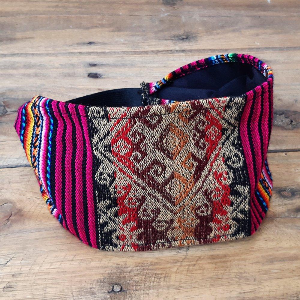 38e416db6 Faixa de cabelo etnic manta peruana - Bolsas Boho
