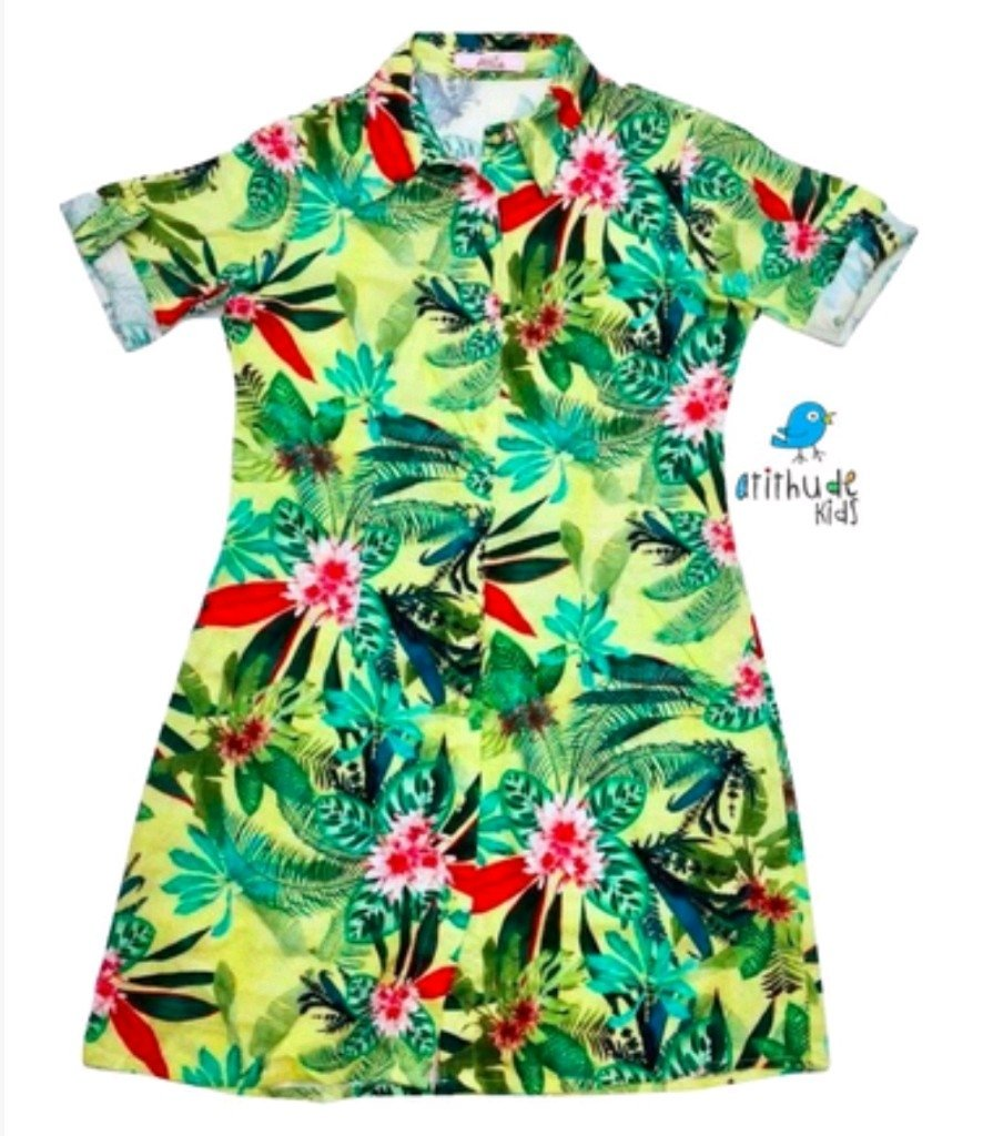 2b1408fe21 Vestido Marina - Floral Verde