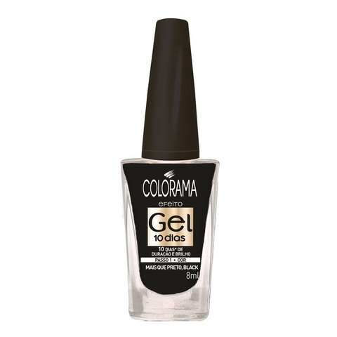 Esmalte Gel 10 dias Colorama - Mais Que Preto Black - 8ml