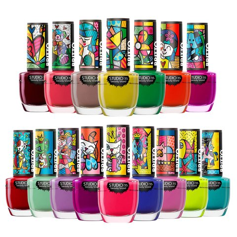 Kit Esmaltes Studio35 Romero Britto 16 Cores 9ml