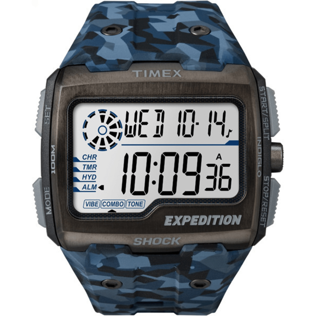 39f69f8426b8 Reloj Timex Expedition Grid Shock Tw4b07100 Blue Camo