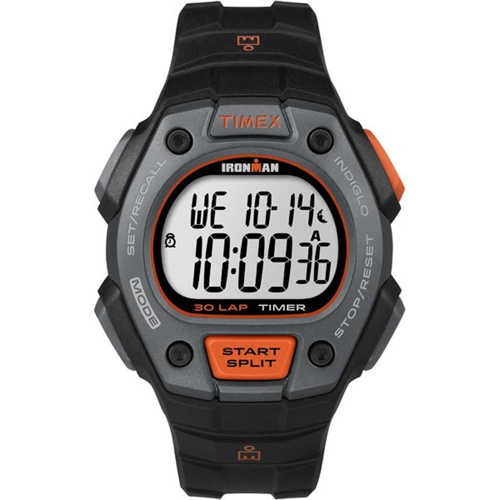beca7c628038 Timex Ironman Classic 30 Lap Black orange Tw5k90900