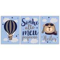 URSO AVIADOR BALÃO PLACAS DECORATIVAS na internet