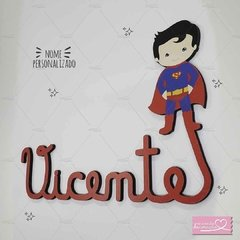 SUPERMAN  NOME MDF DECORATIVO
