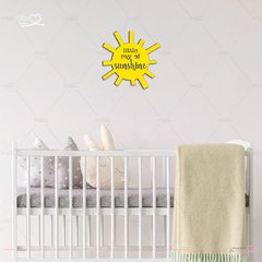 PLACA DECORATIVA INFANTIL MDF FORMATO SOL LITTLE RAY OF SUNSHINE