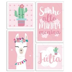 LHAMA CACTO KIT PLACAS DECORATIVAS
