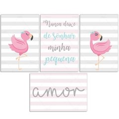 FLAMINGO AMOR PLACAS DECORATIVAS - comprar online
