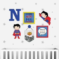 SUPERMAN HERÓI MDF E PLACAS DECORATIVOS INFANTIL